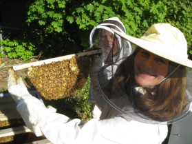 Melissa with bees