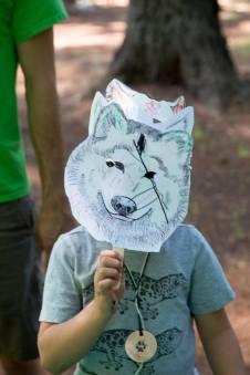 Run Wild wolf mask