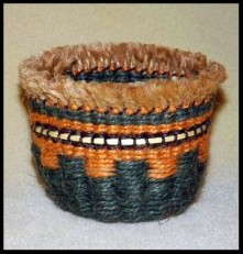 Bear Grass Twined Basket wBorder