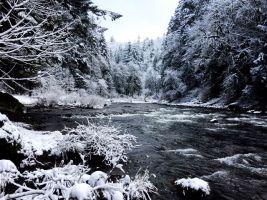 Winter river framed